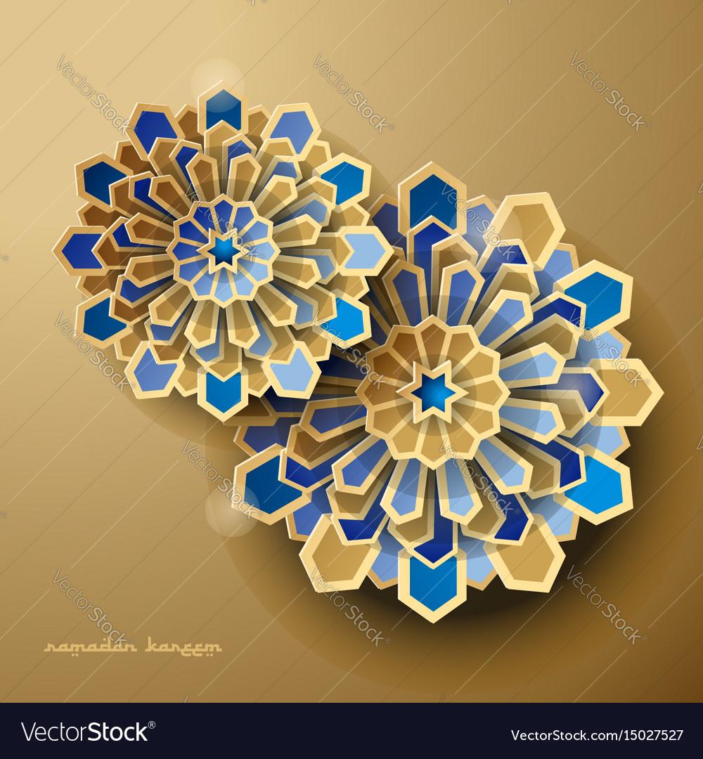 Islamic geometric background ramadan