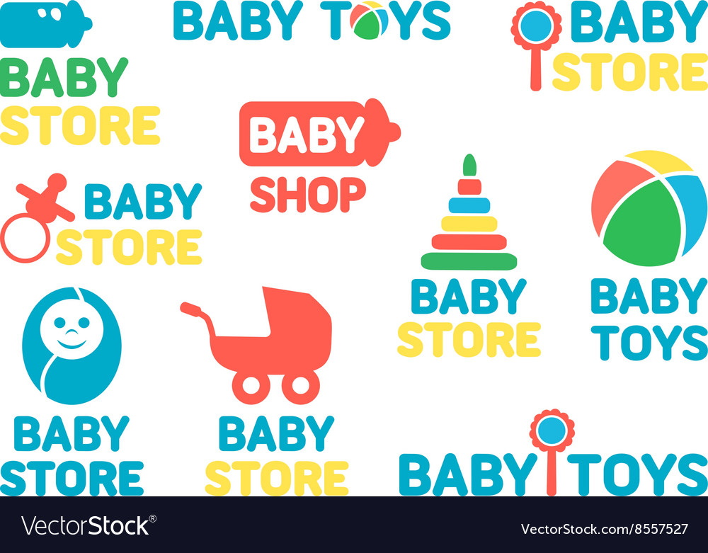 Logotypes set of baby stores
