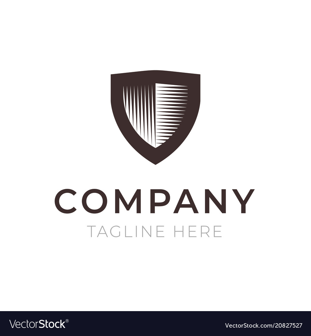 Shield company logo sign