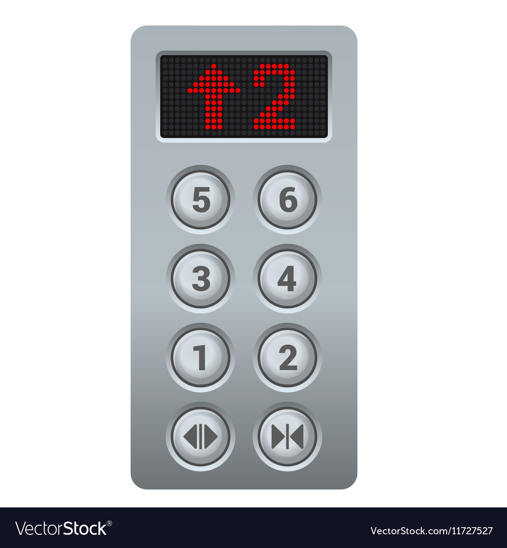 steel elevator buttons panel royalty free vector image