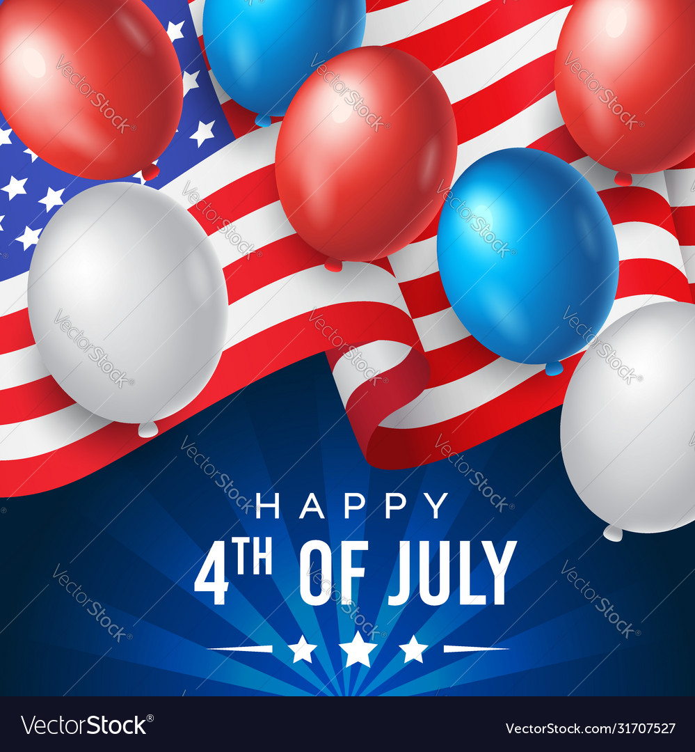 Us independence day banner poster or greeting
