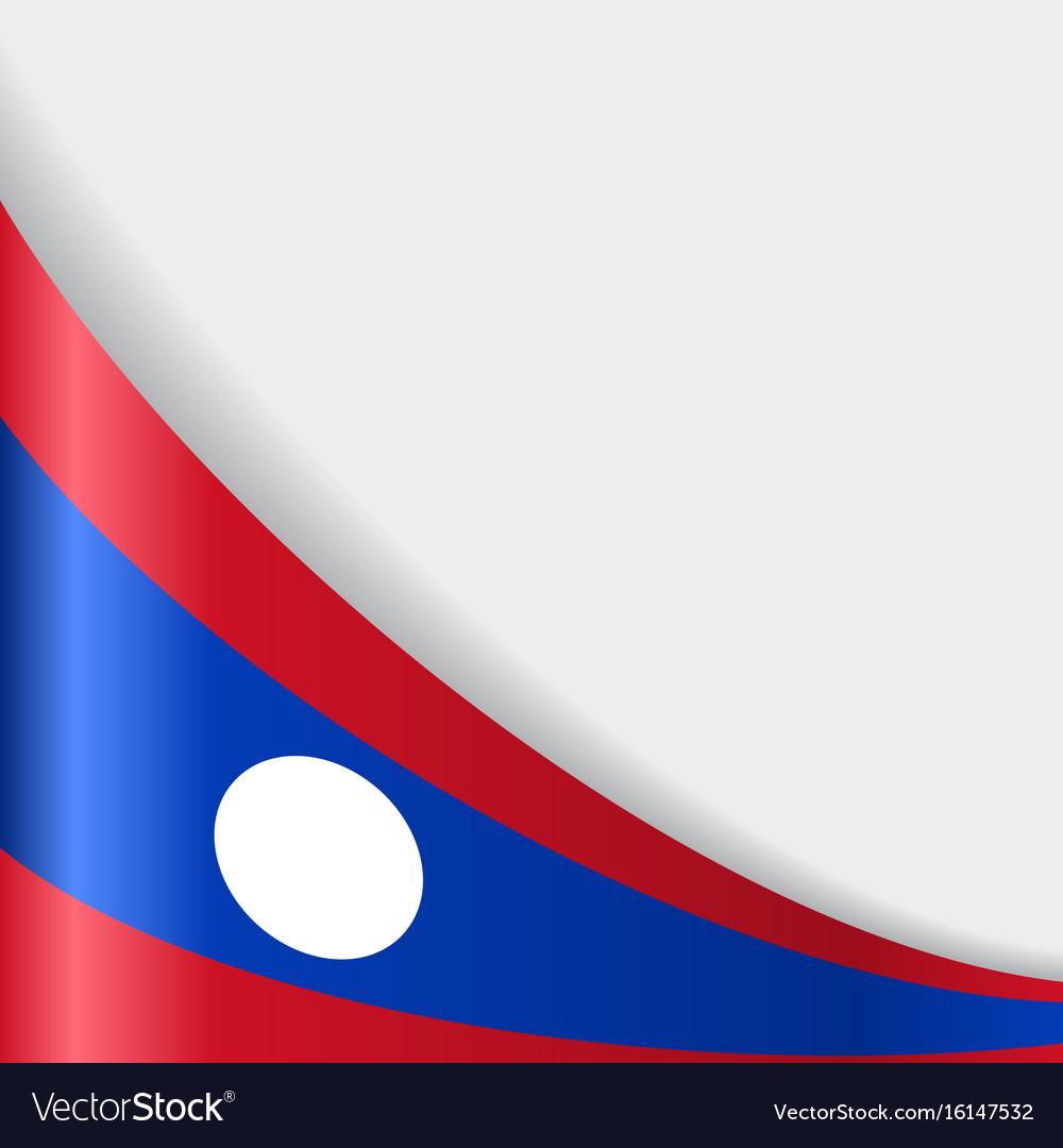 Laos flag background