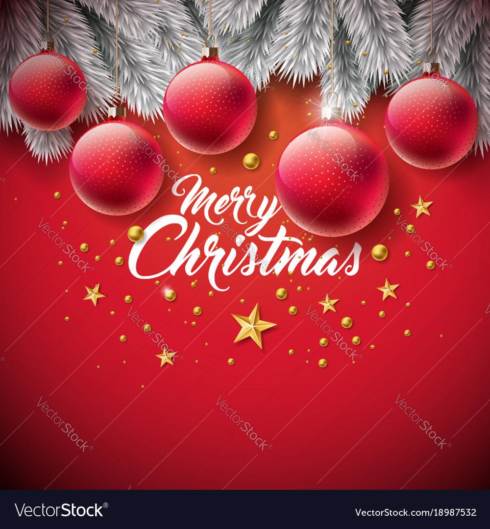 Merry christmas with ornamental ball