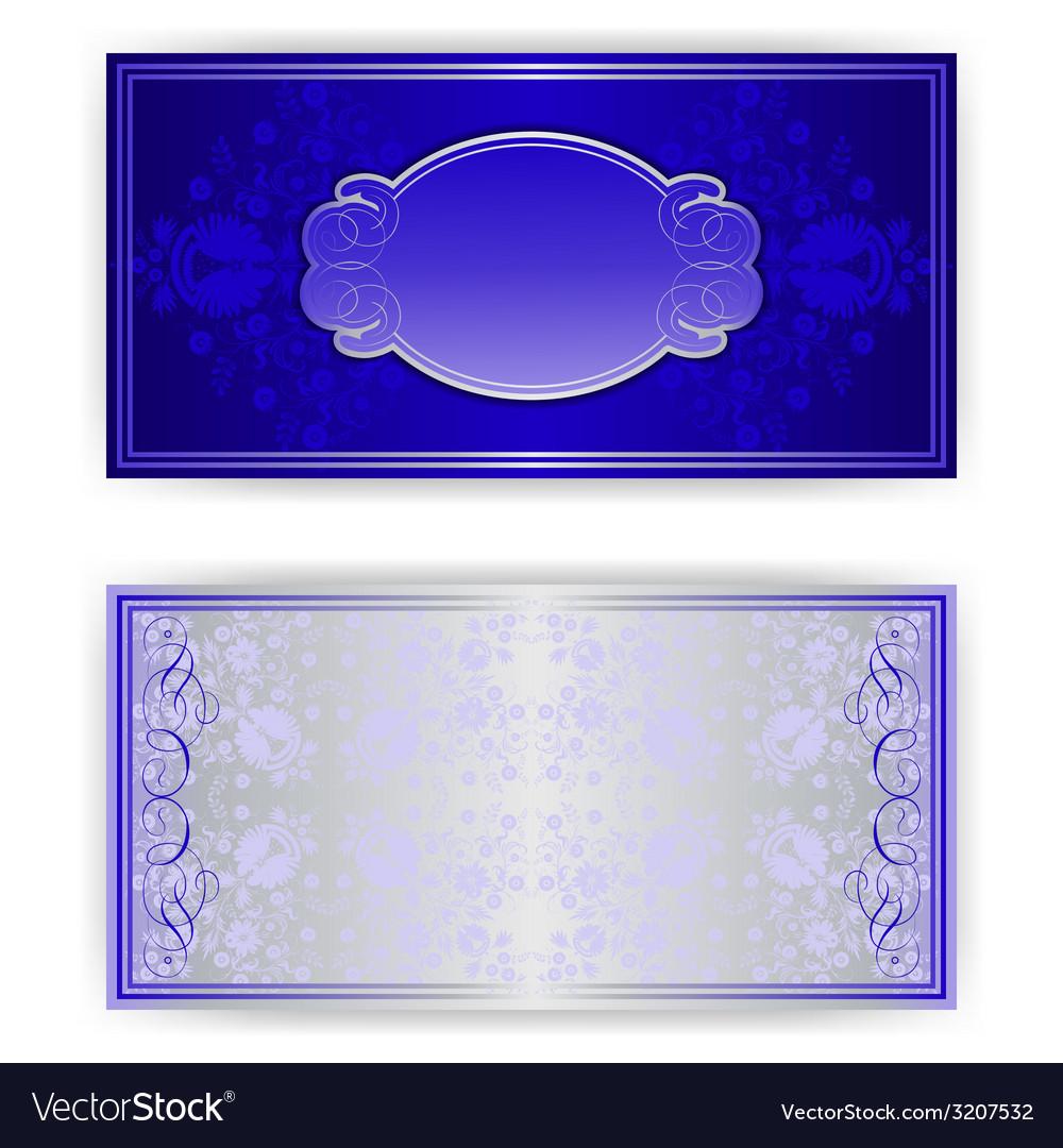 Royal invitation card with frame royalty free vector image royal invitation card with frame vector image stopboris Gallery