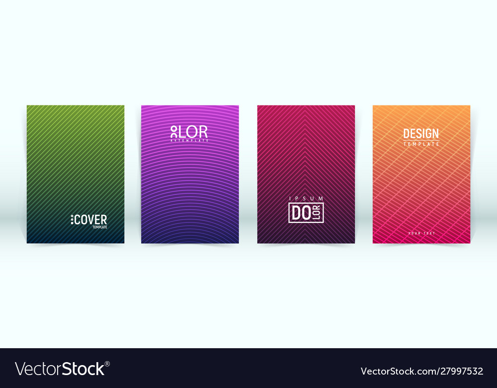 Set minimalistic cover template with