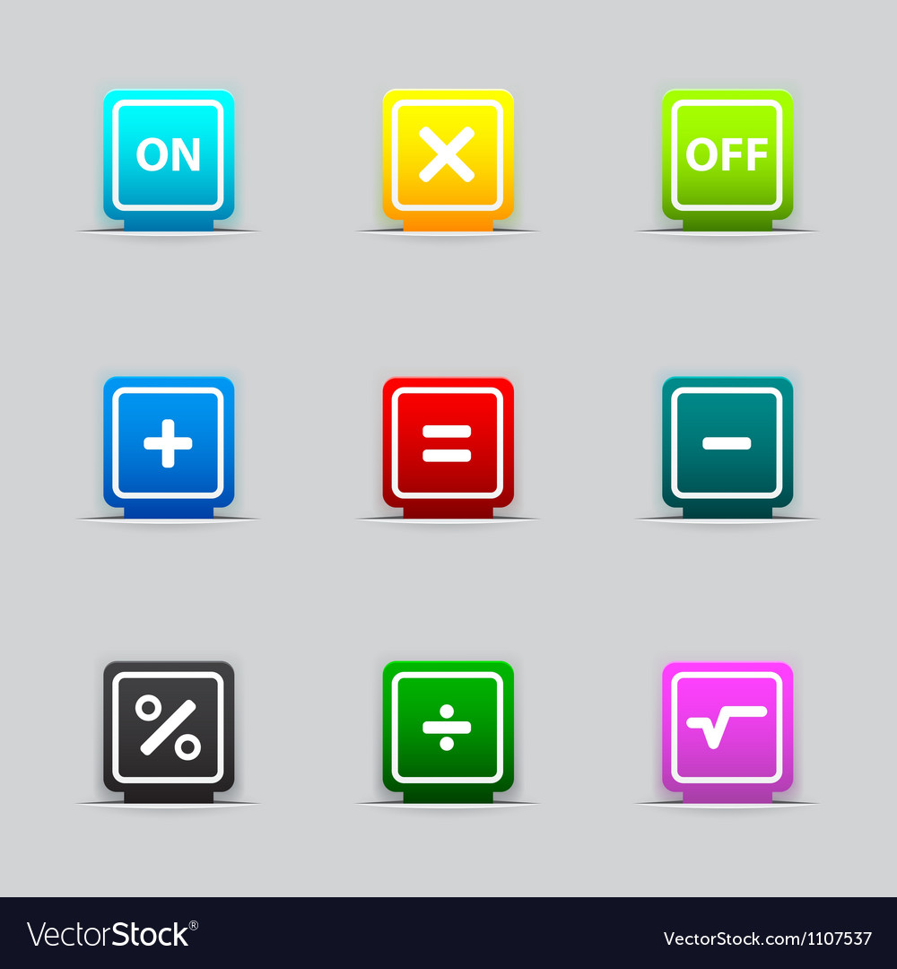 Bookmark with mathematical signs vector image