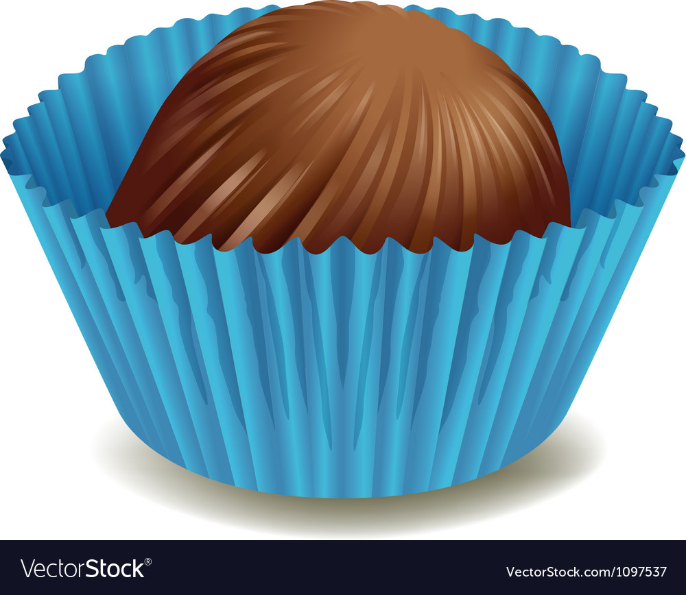 Chocolates in blue cup