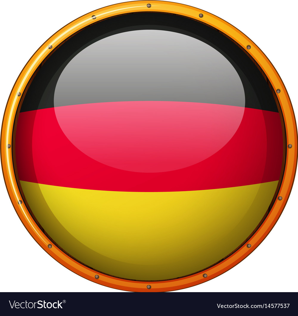 Germany flag on round button