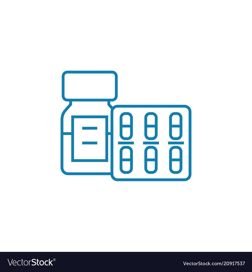 Medical supplies linear icon concept medical