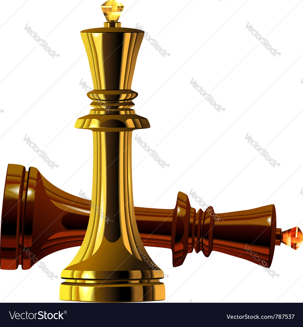 Metal chess king Royalty Free Vector Image - VectorStock