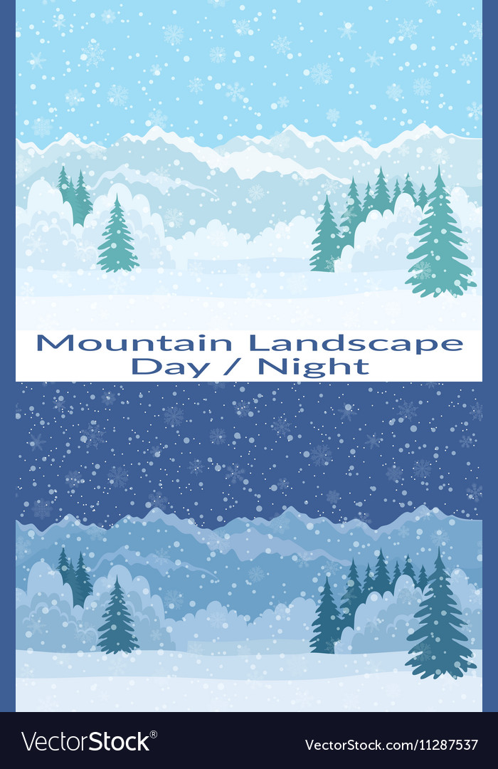 Mountain Seamless Landscapes vector image