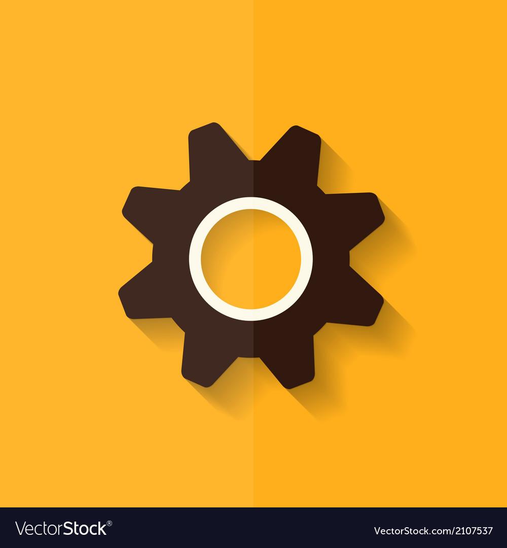 Settings Icon Gear Symbol Tools Flat Design Vector Image