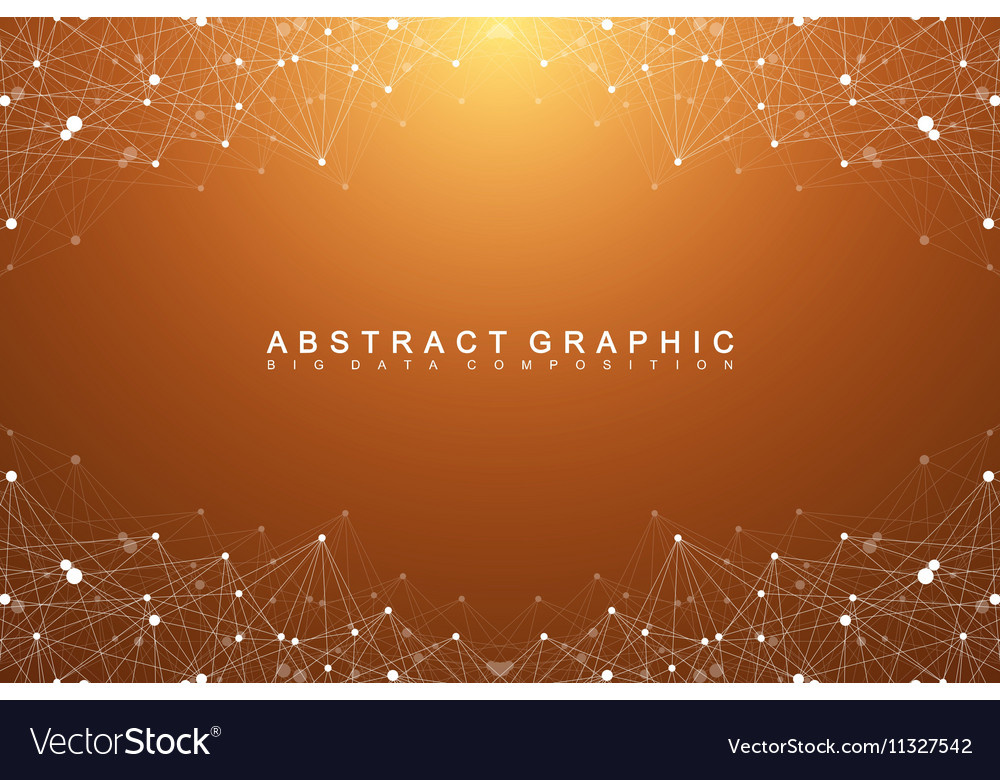 Big data complex Graphic abstract background