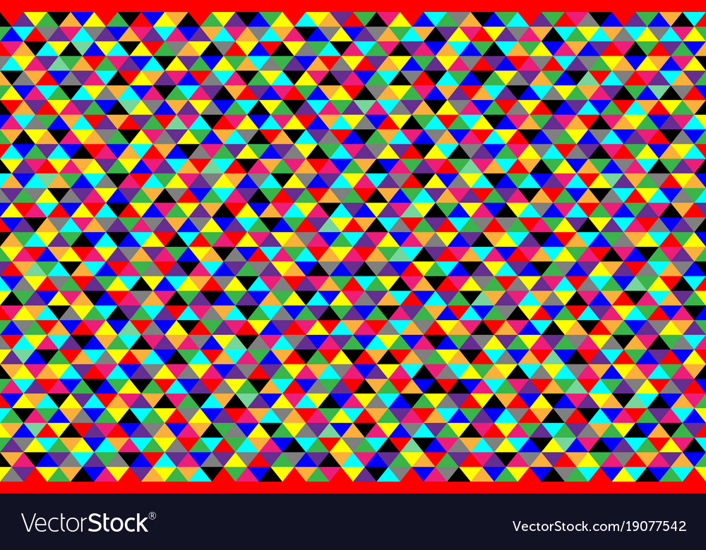 Colorful triangular background vector image