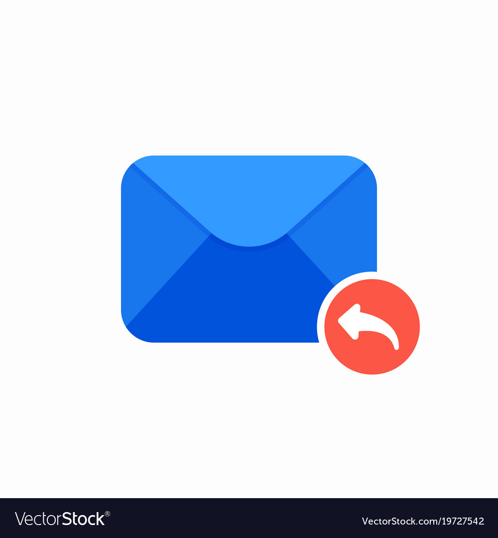 Email envelope mail message reply icon vector image