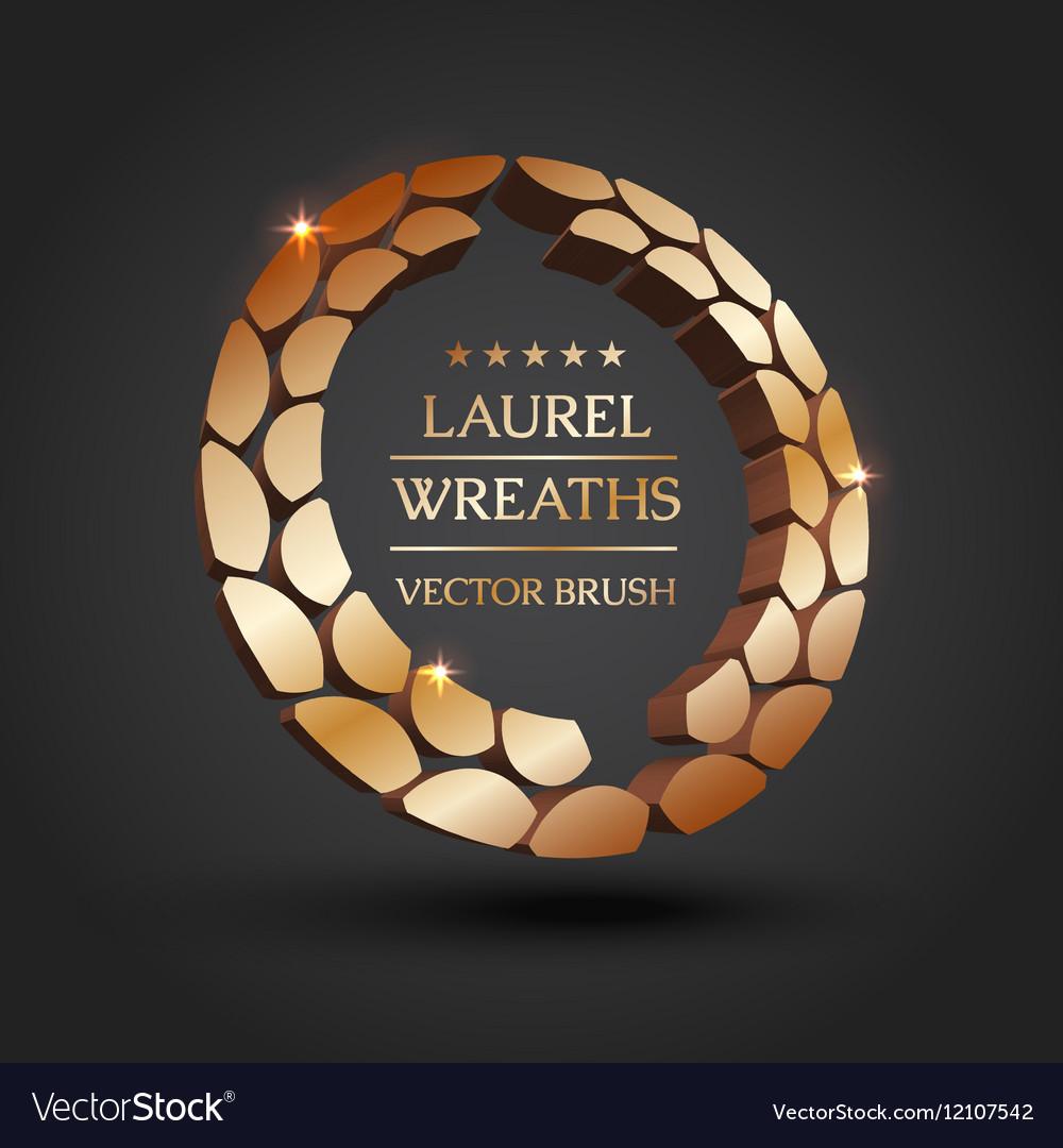 Gold silver bronze laurel wreath