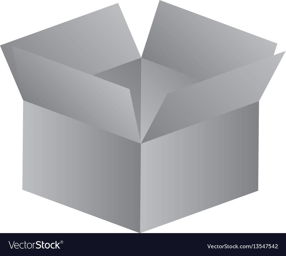 Gray box opened icon