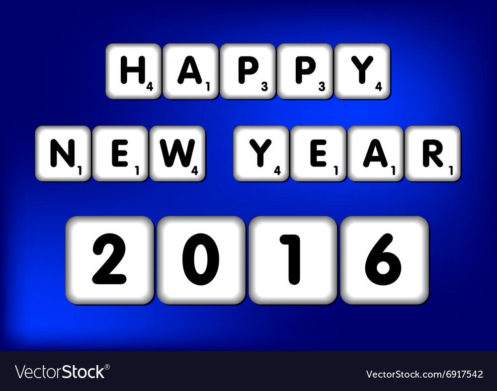 Happy New Year 2016 Scrabble