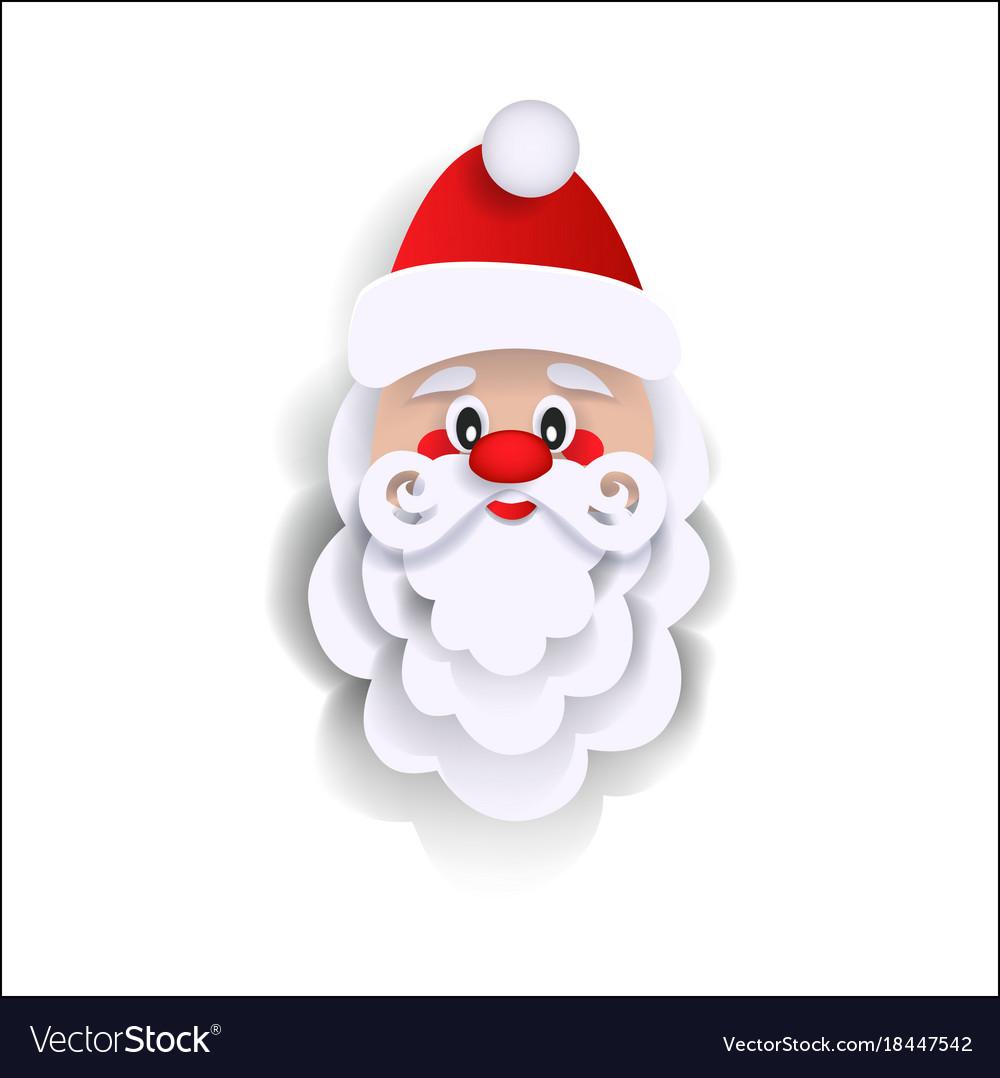 Paper cut santa claus christmas decoration element