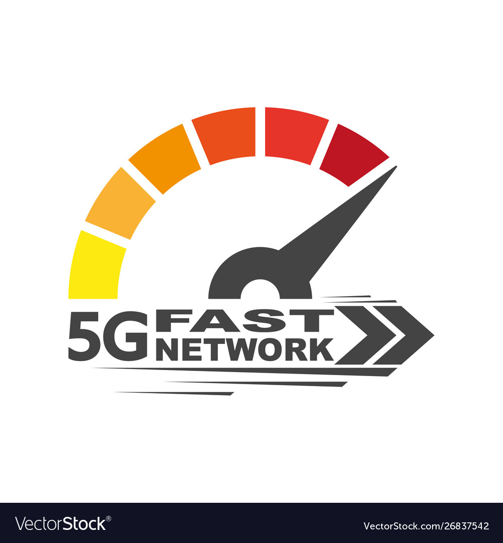 Speed internet 5g abstract symbol speed 5g