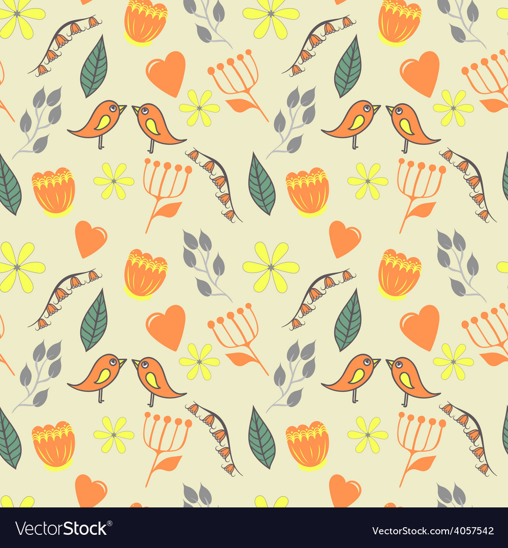 Spring lovely seamless pattern with flovers and