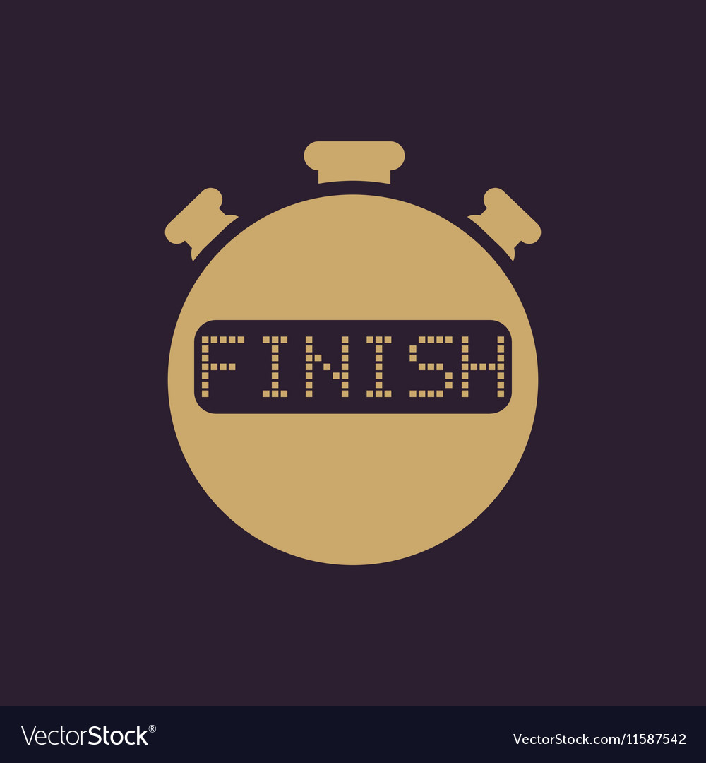 The finish stopwatch icon Clock and watch timer vector image