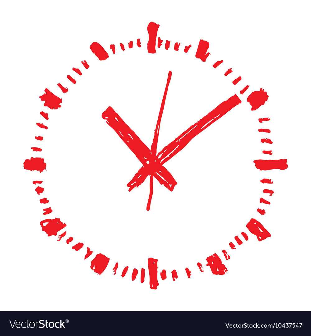 Clock handwritten1 resize vector image