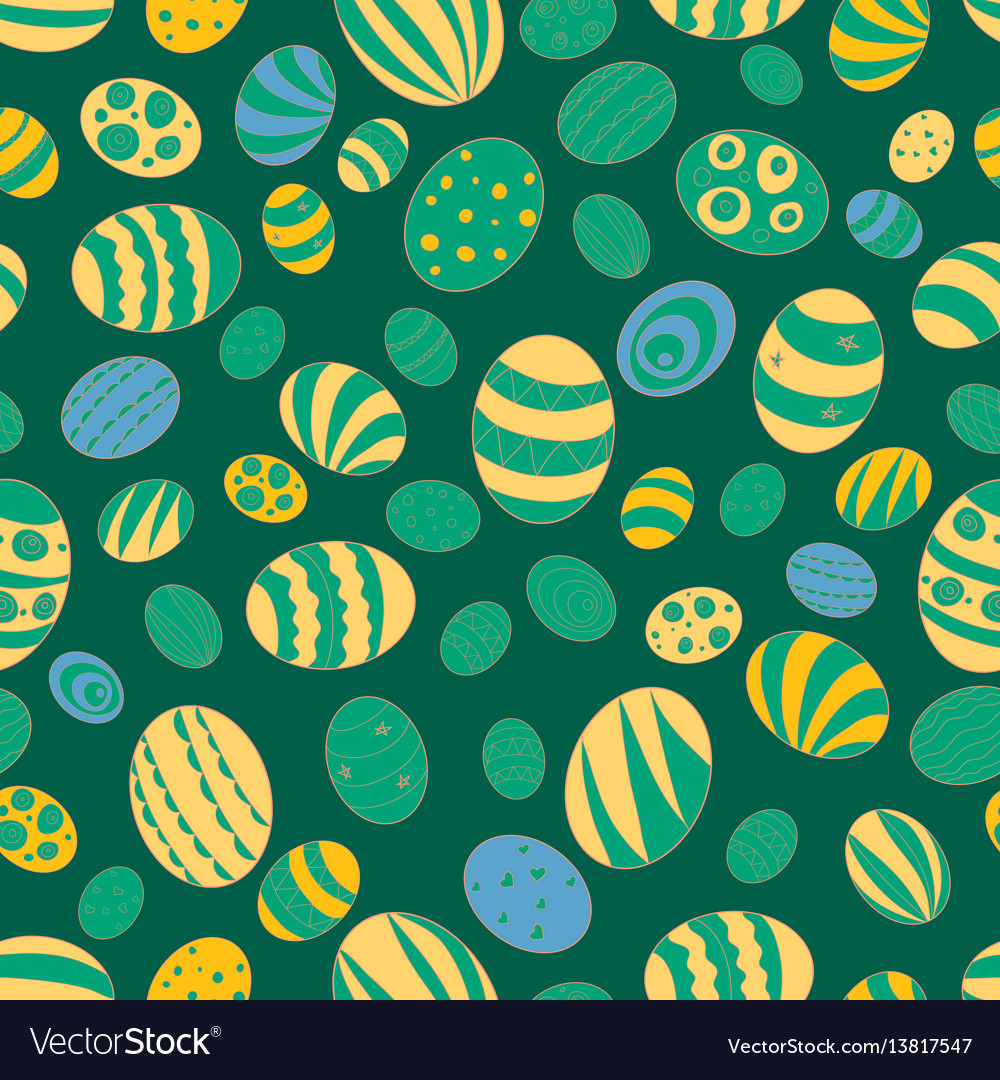 For the holiday of easter pattern vector image