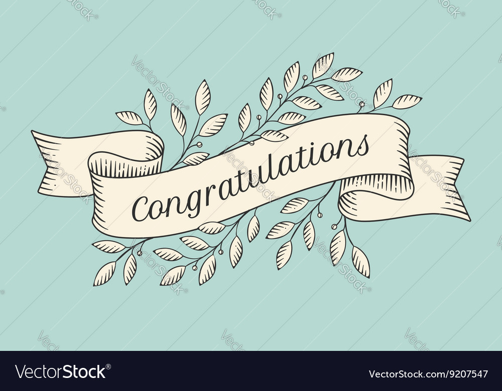 Greeting card with inscription Congratulations