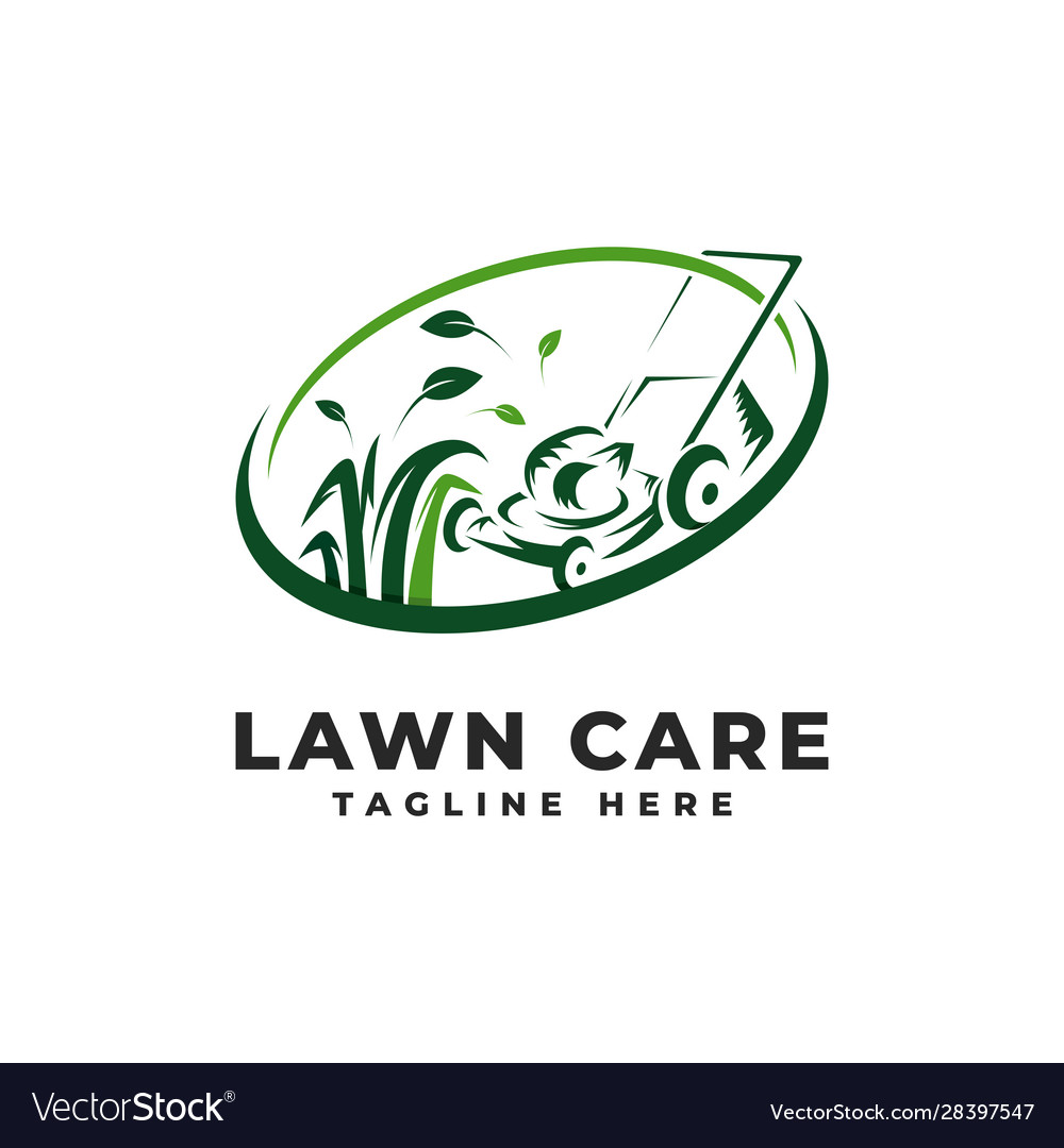 Lawn Mowing Logo Lawn Care Royalty Free Vector Image