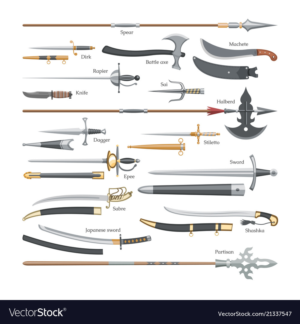 Sword medieval weapon knight with sharp