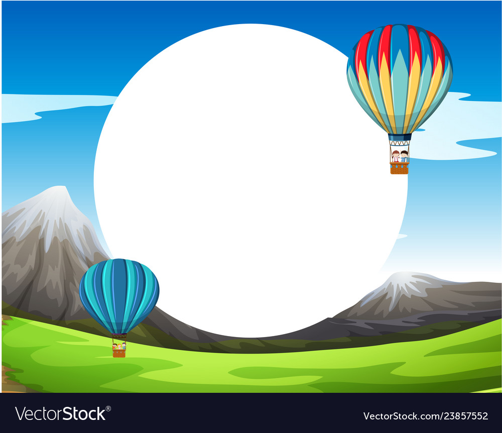 A hot air balloon template Royalty Free Vector Image