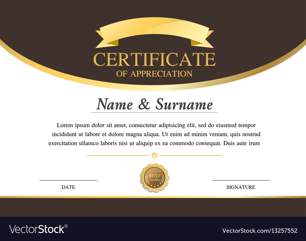 Certificate template warranty 2