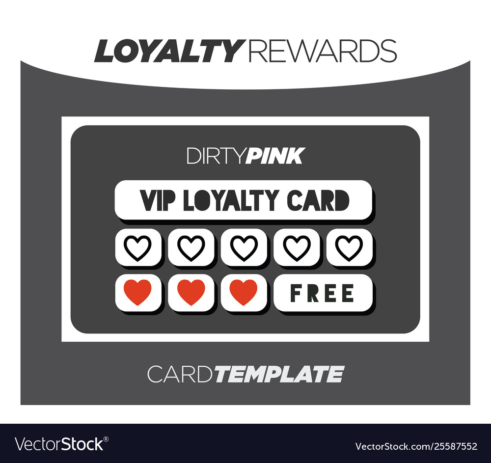 Fancy and modern black loyalty card template Vector Image In Customer Loyalty Card Template Free