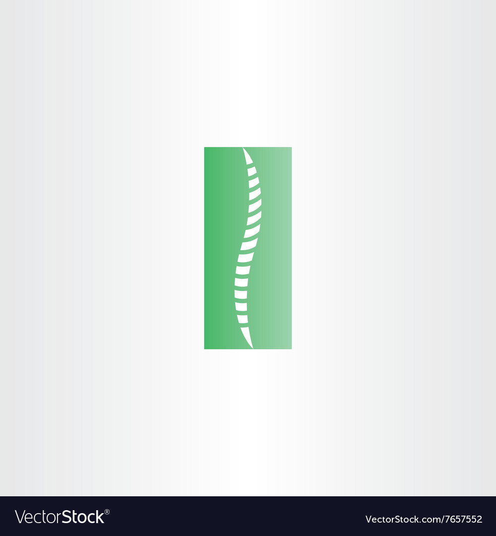Green healthy spine icon