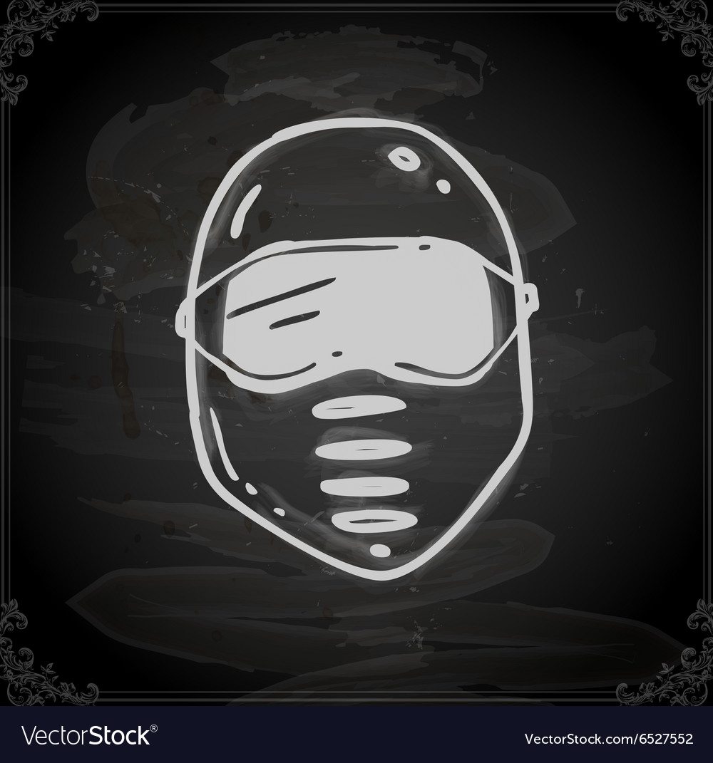 Hand Drawn Safety Mask