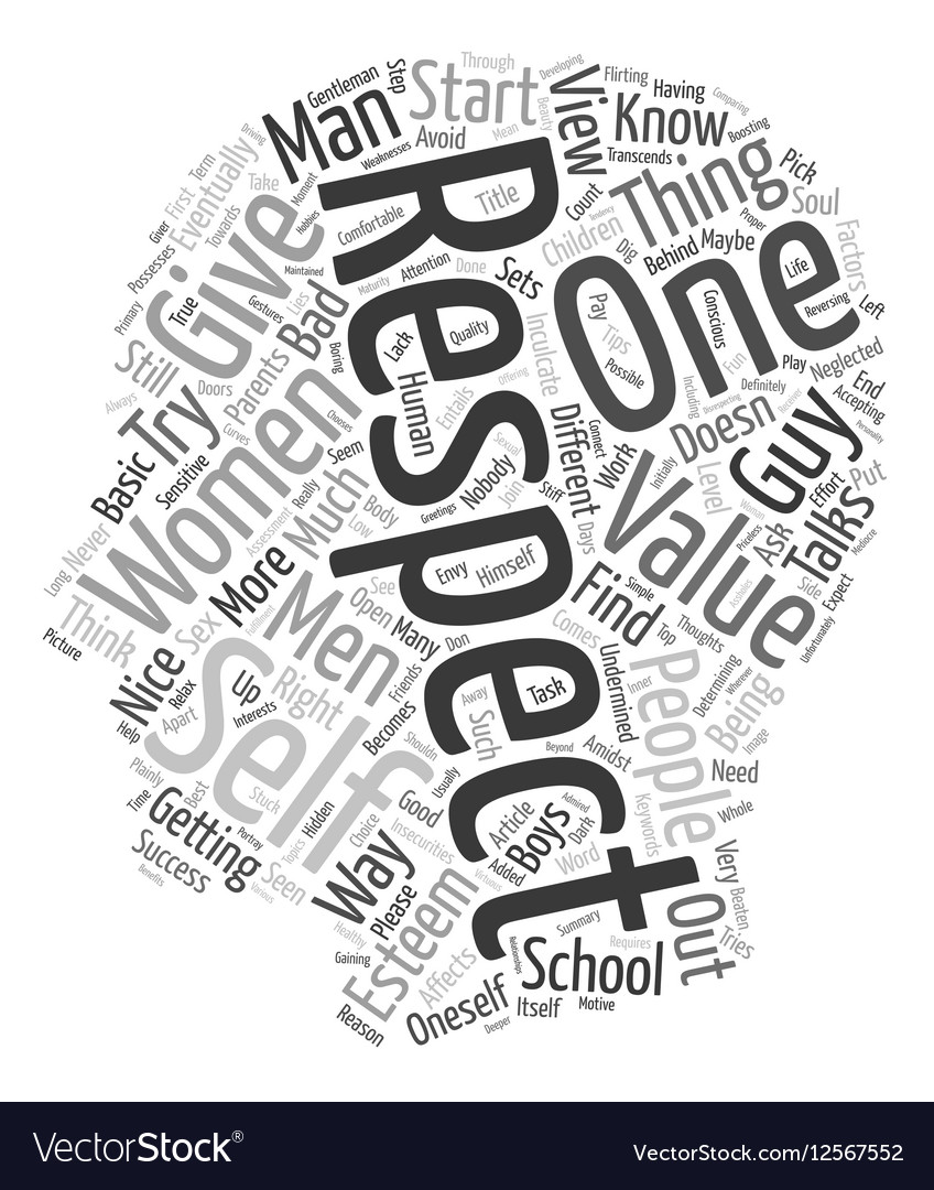 How To Get Respect From Women text background vector image