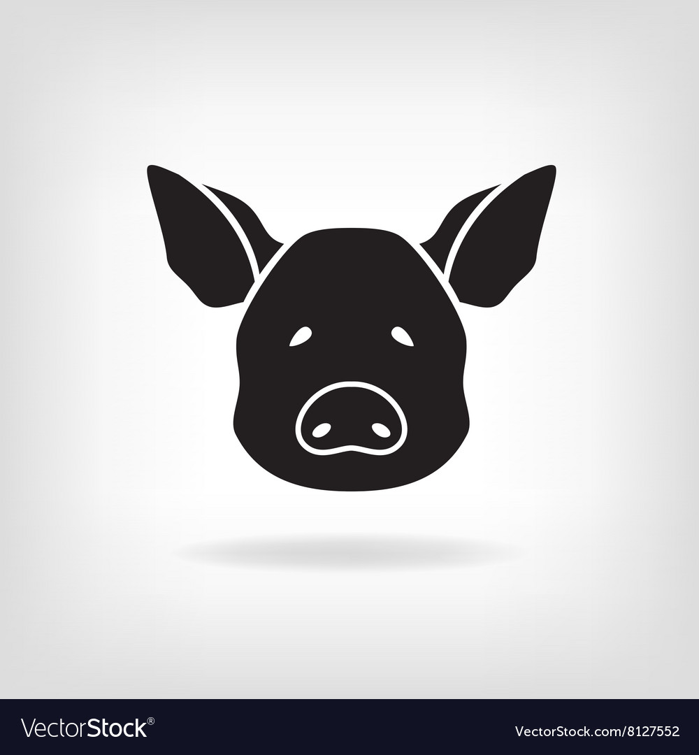 Stylized head of a pig on light background vector image