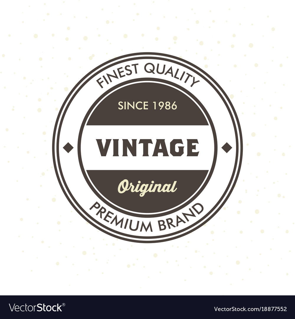 vintage hipster logo design template royalty free vector