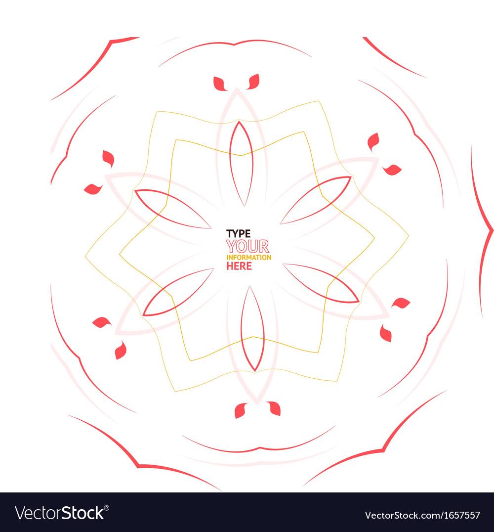Abstract floral snowflake Christmas design