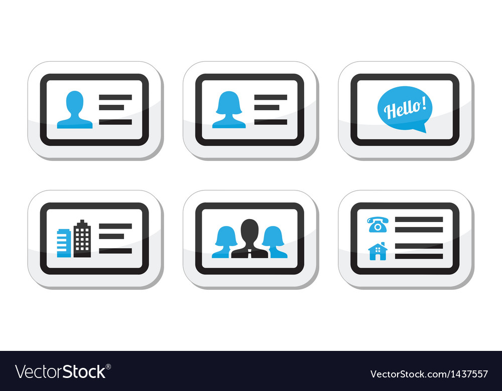 Business card icons set Royalty Free Vector Image