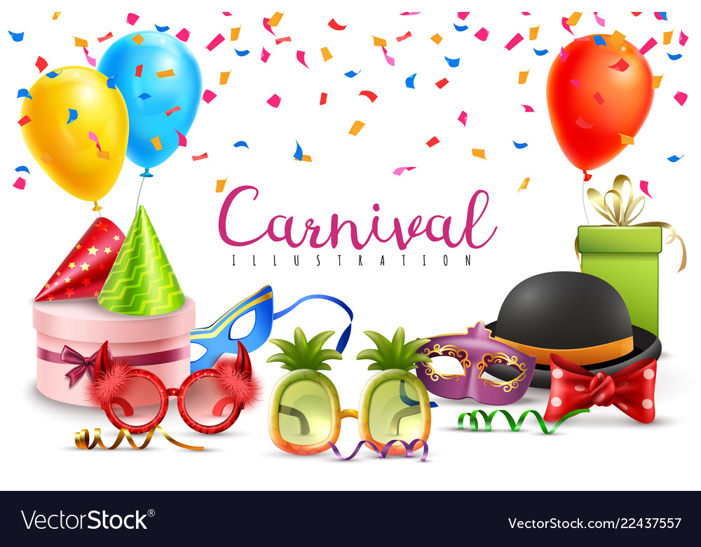 Carnival party accessories poster