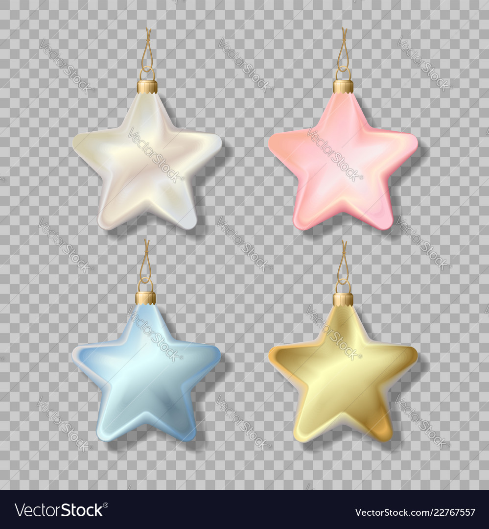 Christmas star isolated ornament vector image