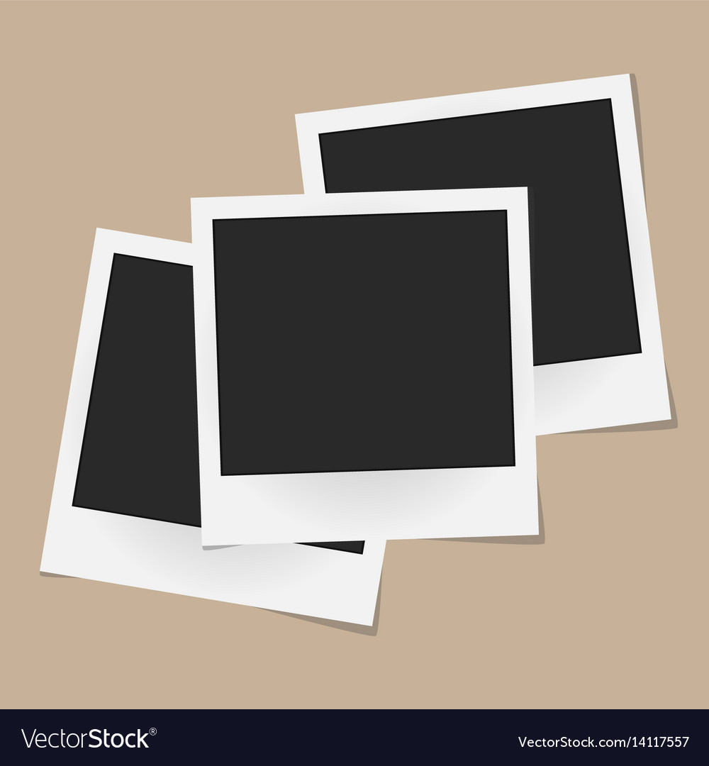 Collage of realistic photo frames isolated on vector image