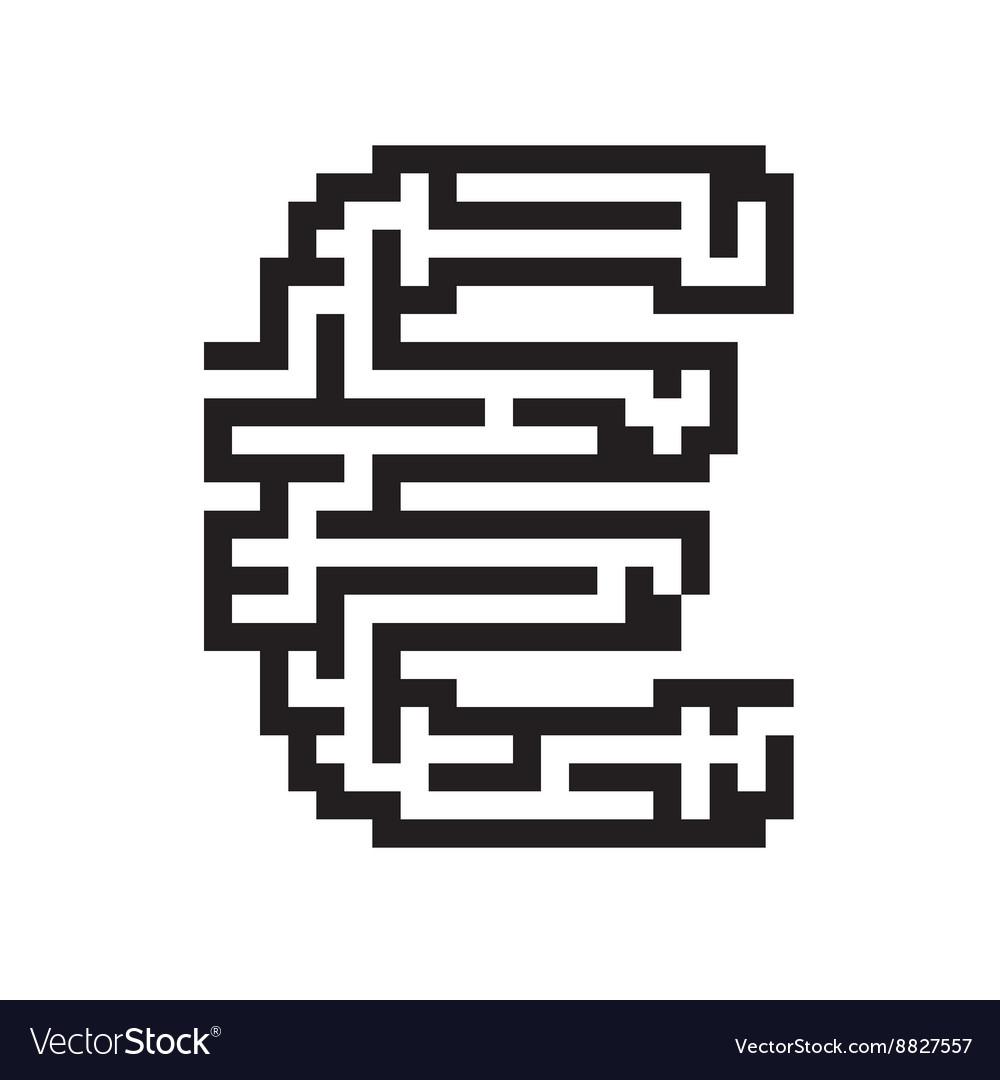 Euro business flat black maze