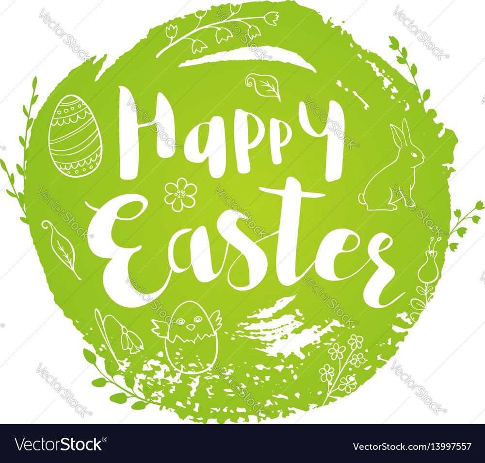 Green abstract easter background vector image