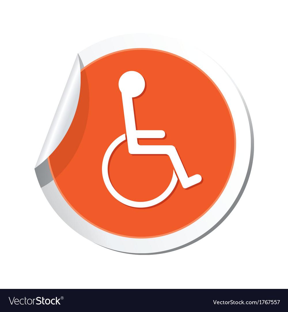 handicap symbol orange tag royalty free vector image