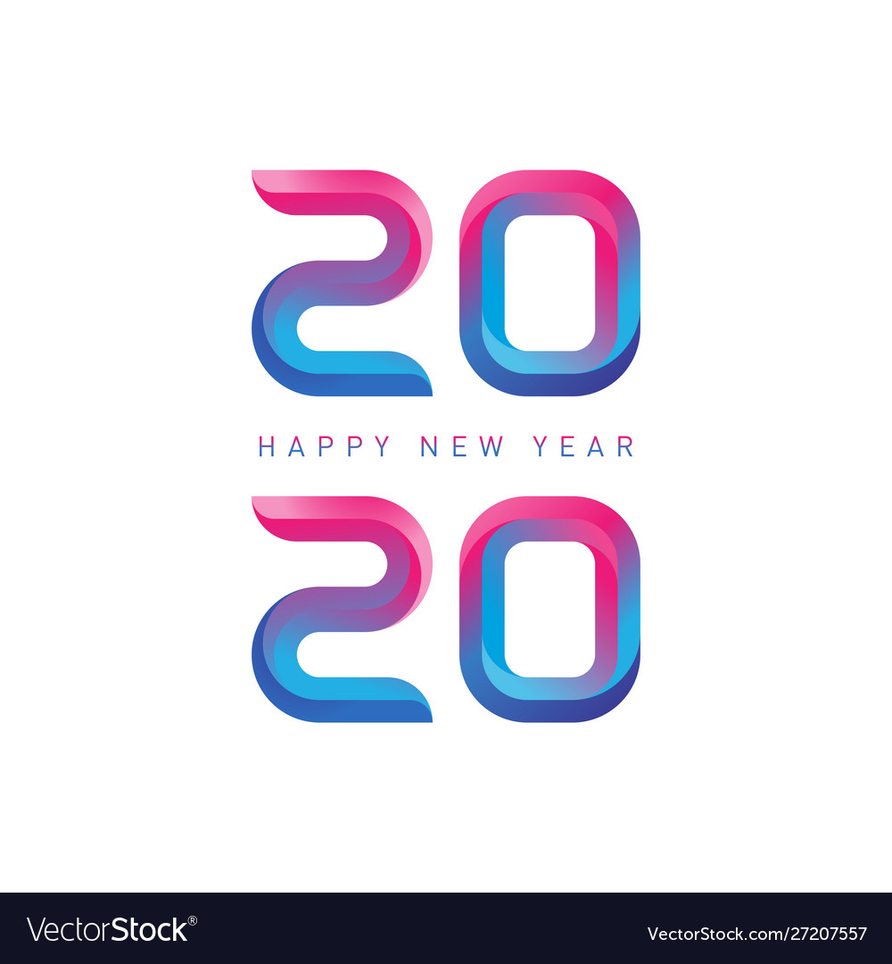 Happy new year - greeting card with gradients new
