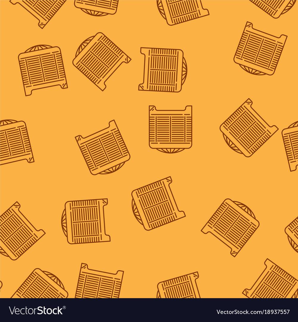 House heating seamless pattern