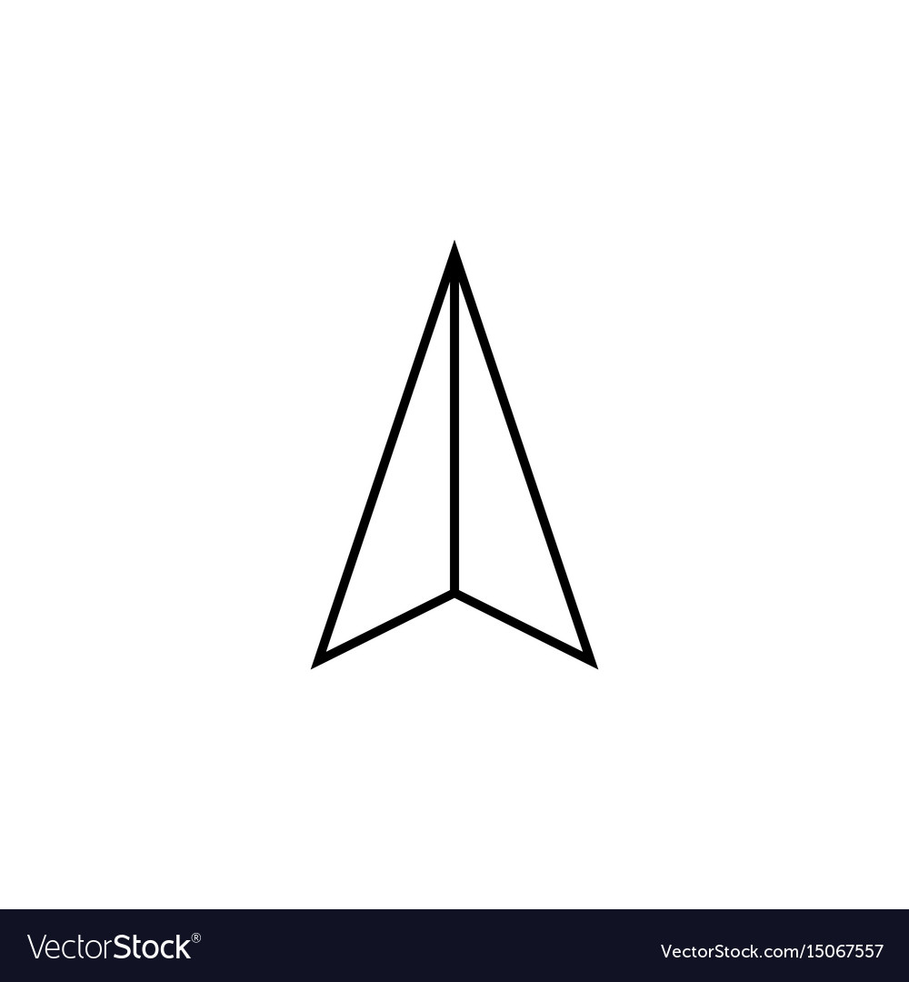 Location arrow line icon navigation and gps sign